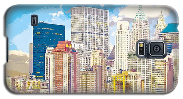 Manhattan Skyline New York City Galaxy S5 Case