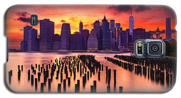 Manhattan Sunset Galaxy S5 Case by Rima Biswas