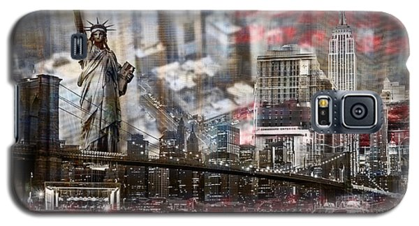 Galaxy S5 Case featuring the photograph Manhatten From Above by Hannes Cmarits