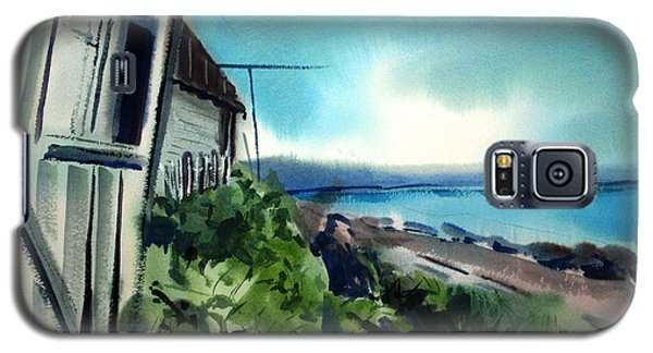 Galaxy S5 Case featuring the painting Manitoba Fishing Cabin For Rent Matted Framed Glassed by Charlie Spear