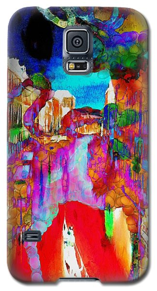 Galaxy S5 Case featuring the painting Mankey Painted Reindeer In Italy  by Catherine Lott