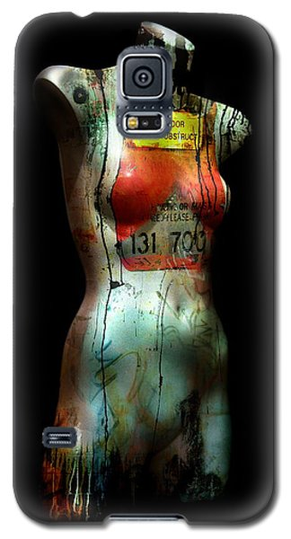 Galaxy S5 Case featuring the painting Mannequin Graffiti by Kim Gauge
