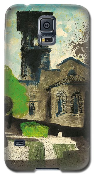 Galaxy S5 Case featuring the painting Manosque  Provence Notre Dame De Romigier Print by Martin Stankewitz