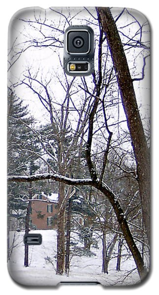 Galaxy S5 Case featuring the photograph Mansion In The Snow by Skyler Tipton