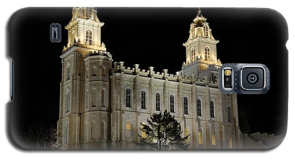 Manti Temple Night Galaxy S5 Case by David Andersen