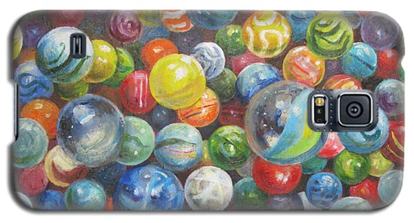 Galaxy S5 Case featuring the painting Many Marbles by Oz Freedgood