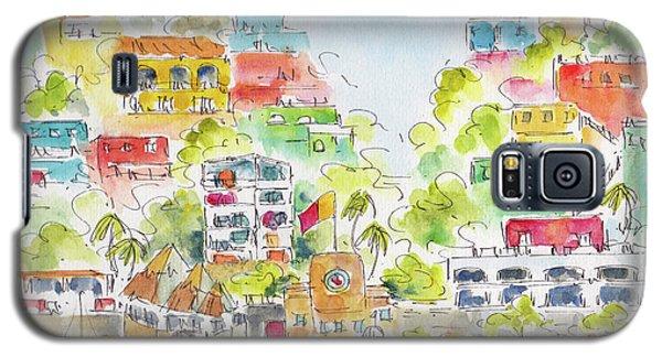 Galaxy S5 Case featuring the painting Manzanillo Coastline by Pat Katz