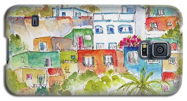 Galaxy S5 Case featuring the painting Manzanillo Hillside by Pat Katz