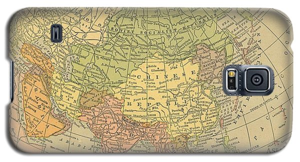 Galaxy S5 Case featuring the drawing Map Europe by Digital Art Cafe