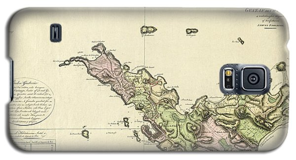 Map Of Saint Barts 1801 Galaxy S5 Case