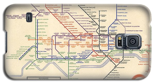 Map Of The London Underground - London Metro - 1933 - Historical Map Galaxy S5 Case