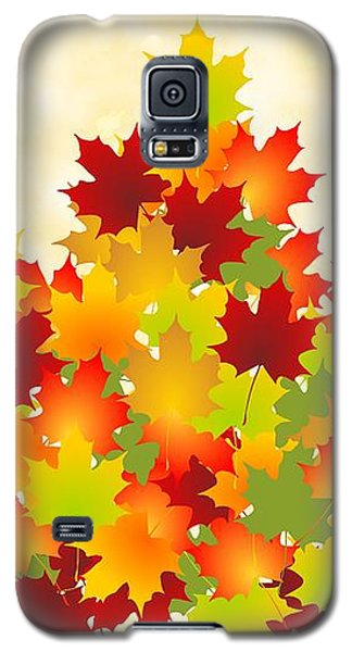 Maple Leaves Galaxy S5 Case