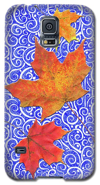 Galaxy S5 Case featuring the digital art Maple Leaves by Lise Winne