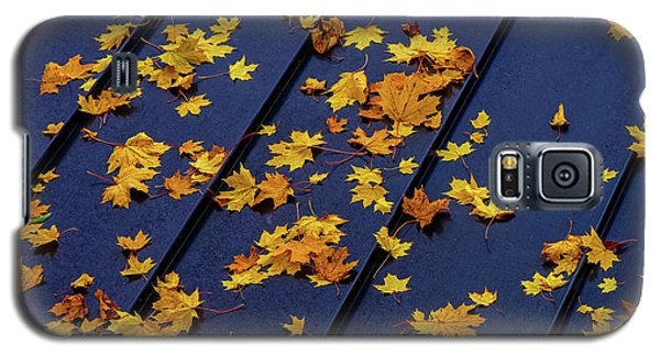 Maple Leaves On A Metal Roof Galaxy S5 Case