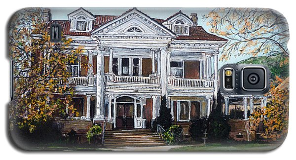 Galaxy S5 Case featuring the painting Mapleton Hill Homestead by Tom Roderick
