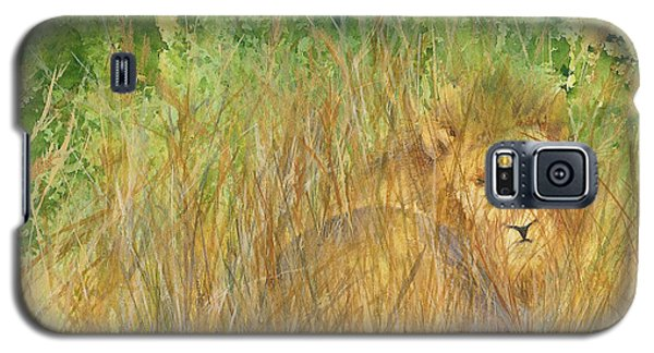 Galaxy S5 Case featuring the painting Mara The Lioness by Vicki  Housel