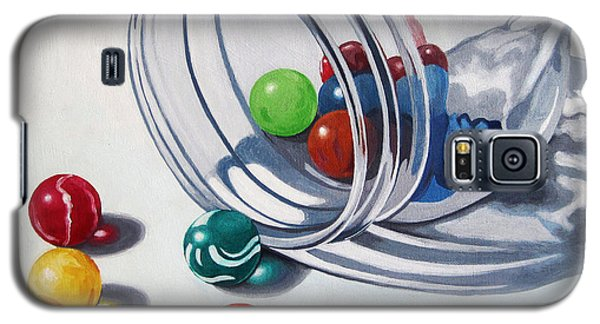 Marbles And Glass Jar Still Life Painting Galaxy S5 Case