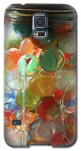 Marbles In A Jar 2 Painterly Galaxy S5 Case