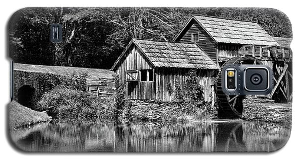 Galaxy S5 Case featuring the photograph Marby Mill In Black And White by Paul Ward