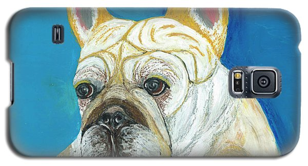 Galaxy S5 Case featuring the painting Marcel II French Bulldog by Ania M Milo