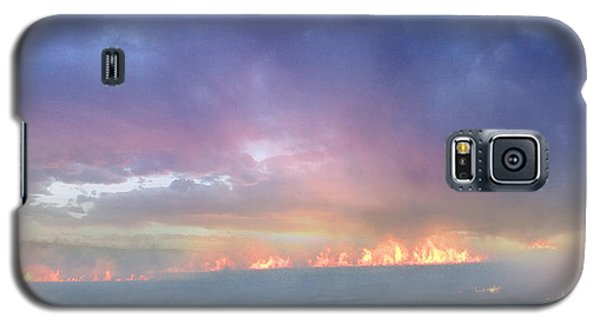 March Burning Of The Prairie Galaxy S5 Case by Rod Seel