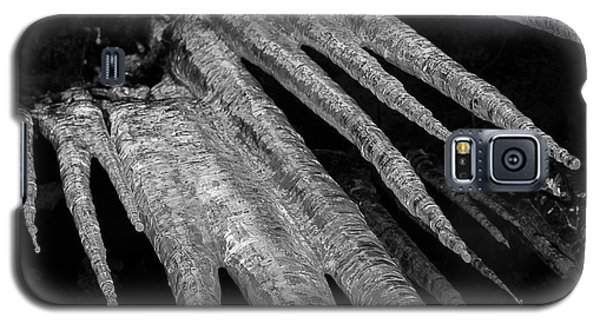 Galaxy S5 Case featuring the photograph March Icicles 3 by Mike Eingle