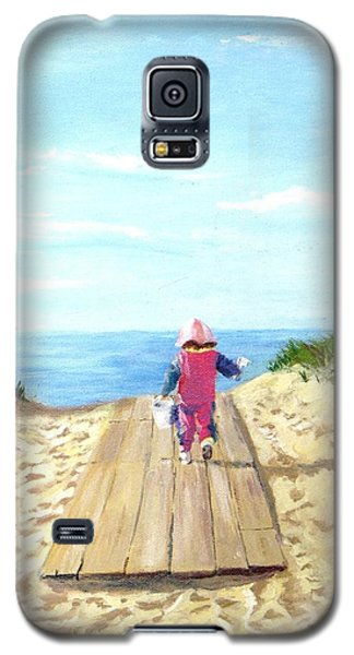 Galaxy S5 Case featuring the painting March To The Beach by Jack Skinner