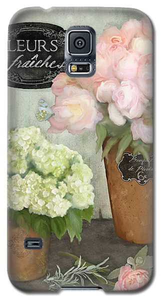 Galaxy S5 Case featuring the painting Marche Aux Fleurs 2 - Peonies N Hydrangeas by Audrey Jeanne Roberts