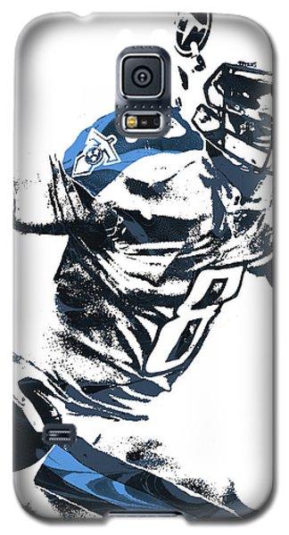 Galaxy S5 Case featuring the mixed media Marcus Mariota Tennesse Titans Pixel Art 2 by Joe Hamilton