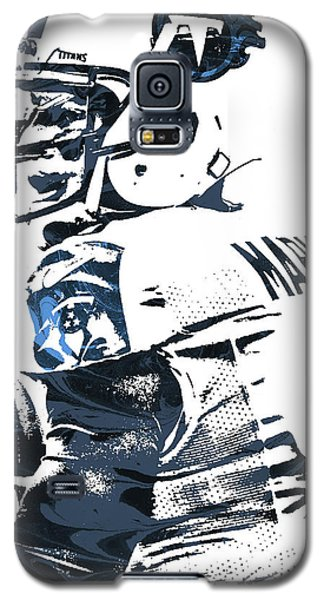 Galaxy S5 Case featuring the mixed media Marcus Mariota Tennessee Titans Pixel Art by Joe Hamilton