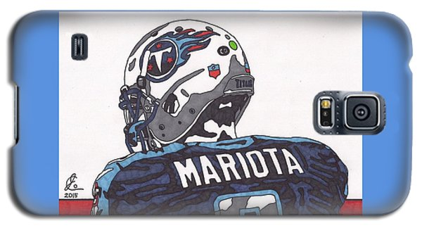 Marcus Mariota Titans 2 Galaxy S5 Case by Jeremiah Colley