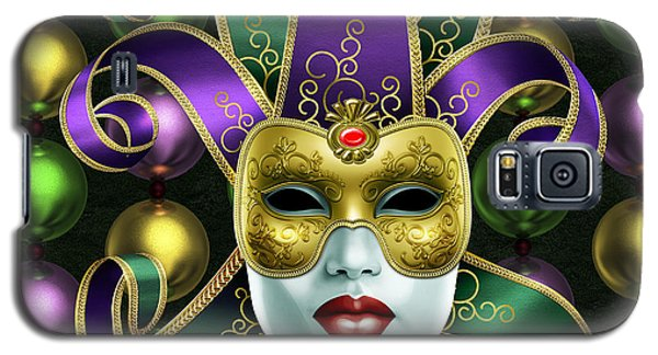 Mardi Gras Mask And Beads Galaxy S5 Case