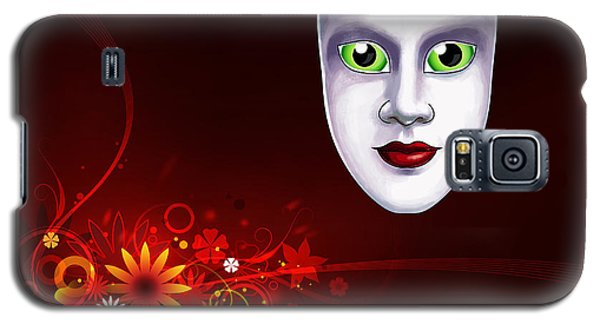 Galaxy S5 Case featuring the photograph Mardi Gras Mask Red Vines by Gary Crockett