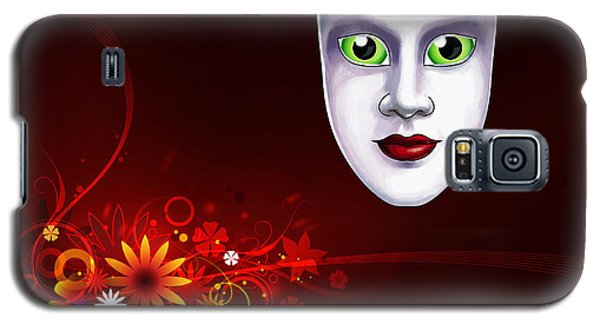 Mardi Gras Mask Red Vines Galaxy S5 Case