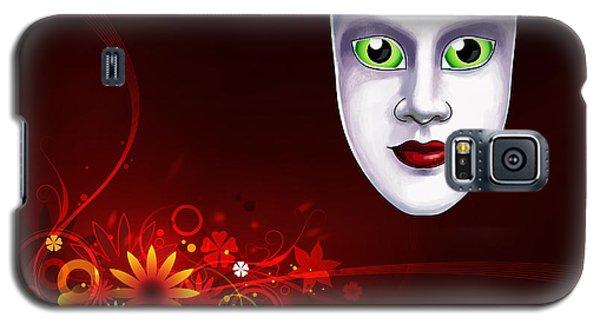 Mardi Gras Mask Red Vines Galaxy S5 Case