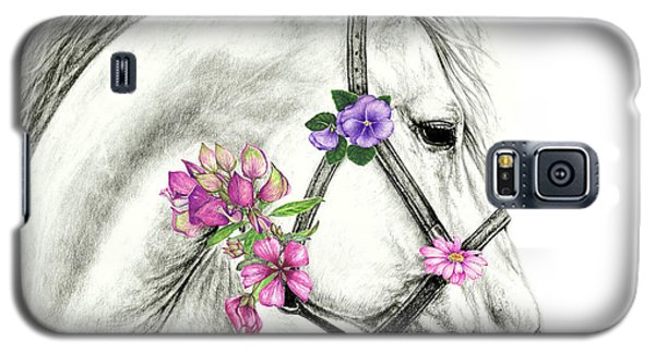 Mare With Flowers Galaxy S5 Case