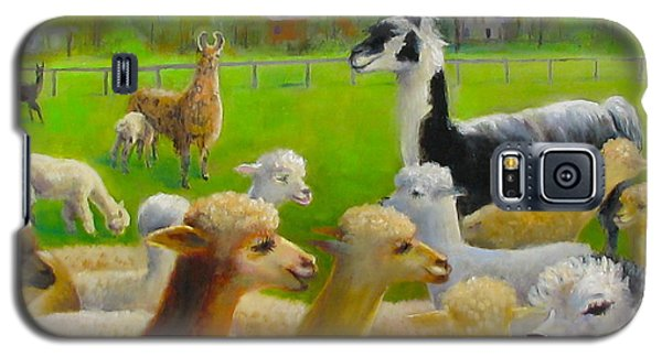 Galaxy S5 Case featuring the painting Mariah Guards The Herd by Oz Freedgood