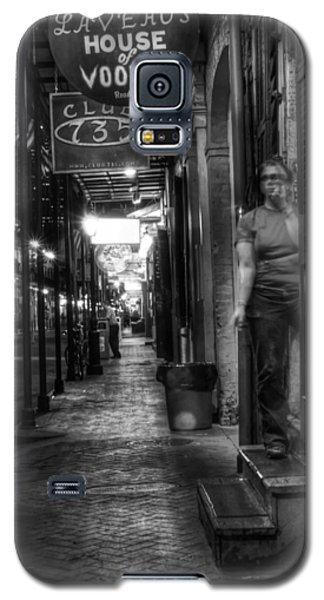 Marie Laveau's House Of Voodoo At Night In Black And White Galaxy S5 Case