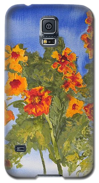 Galaxy S5 Case featuring the painting Marigolds by Sandy McIntire