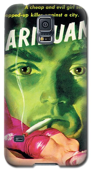 Galaxy S5 Case featuring the painting Marihuana by Bill Fleming