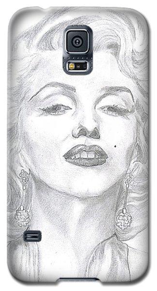 Galaxy S5 Case featuring the drawing Marilyn  by Carol Wisniewski