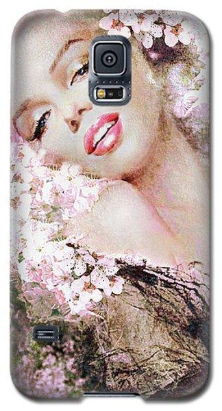 Marilyn Cherry Blossom B Galaxy S5 Case