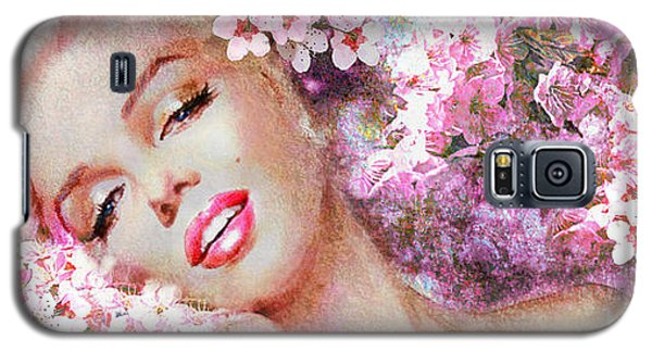 Marilyn Cherry Blossoms Pink Galaxy S5 Case