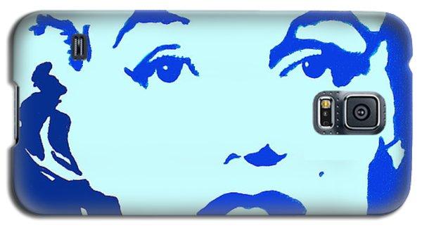 Marilyn Monroe Blue Pop Art Portrait Galaxy S5 Case