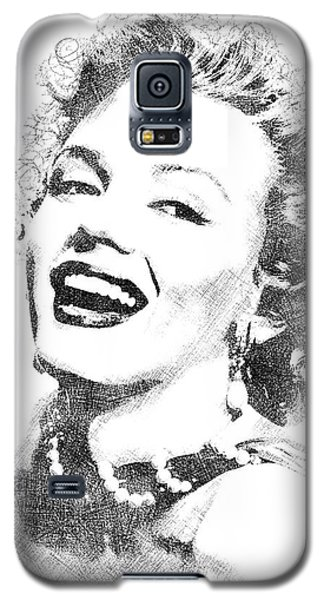 Marilyn Monroe Bw Portrait Galaxy S5 Case by Mihaela Pater
