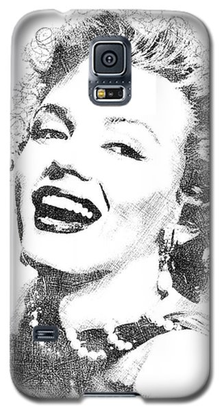 Marilyn Monroe Bw Portrait Galaxy S5 Case