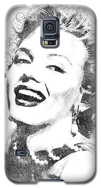 Marilyn Monroe Bw Portrait Galaxy S5 Case