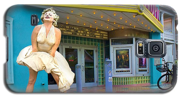 Marilyn Monroe In Front Of Tropic Theatre In Key West Galaxy S5 Case by David Smith