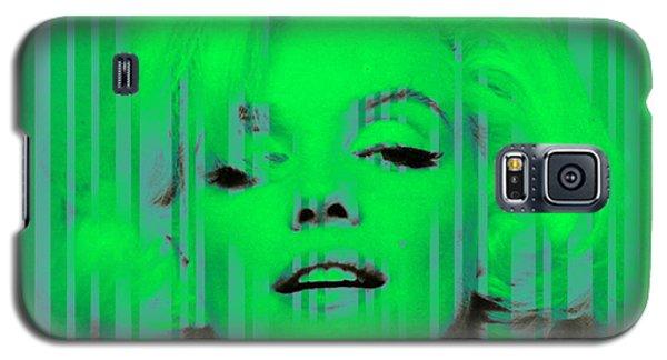 Marilyn Monroe In Green Galaxy S5 Case by Kim Gauge