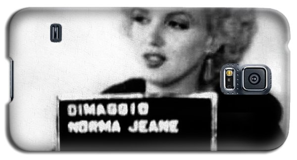 Marilyn Monroe Mugshot In Black And White Galaxy S5 Case